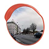 BLOVE Convex Traffic Mirror 24' Interior Exterior 130° Wide Angle Clear View Garage and Driveway Park Assistant Curved Security Mirror Increase Safety (24 inches, XXL)