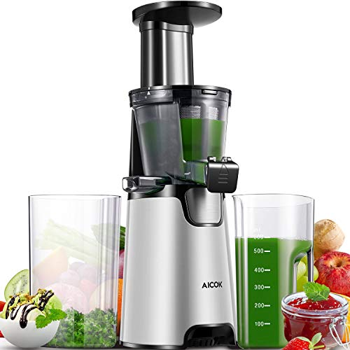 Slow Masticating Juicer Extractor Aicok Compact Cold Press...