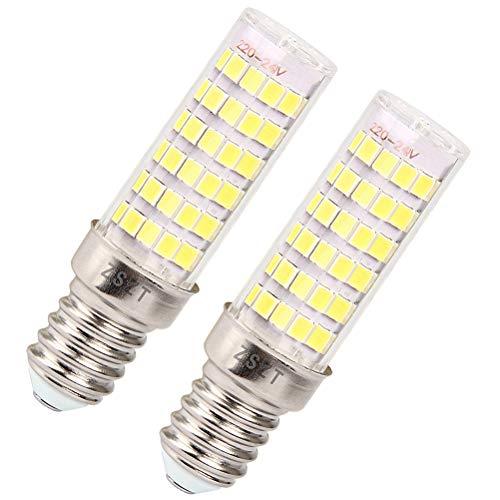 Lampadine per cappa cucina ZSZT LED E14 7W Equivalenti a 50W Bianco Freddo 6000K AC220-240V Piccola vite di Edison, Pacco da 2