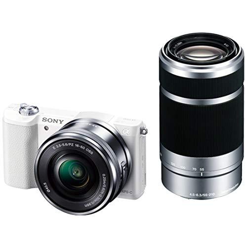 ソニー SONY ミラーレス一眼 α5100 ダブルズームキット E PZ 16-50mm F3.5-5.6 OSS + E 55-210mm F4.5-6.3 OSS ホワイト ILCE-5100Y