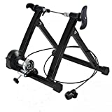 Comeon Bicycle Trainer Mountain Road Bike Portable Foldable Bicycle Trainer Indoor Bike Fitness Rack (20-24 inch mt02wired)