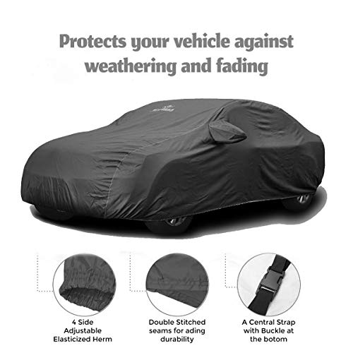 CARMATE Pride Custom Fitting Waterproof Car Body Cover for BMW X1 - Grey