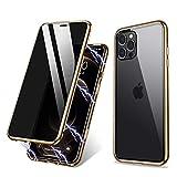 両面強化ガラス 覗き見防止iPhone8Plus iPhone7Plus ガラスケース アルミ バンパー 表裏 前後 ……