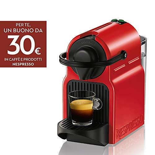 Nespresso Inissia Macchina per caff espresso, a capsule, 1260 W, 0.7 L, Rosso (Ruby Red)