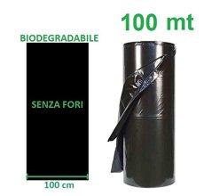 AGRIPLAST S.R.L. Telo PACCIAMANTE BIODEGRADABILE 100 MT X 1 MT Non Forato PACCIAMATURA BIO COMPOSTABILE