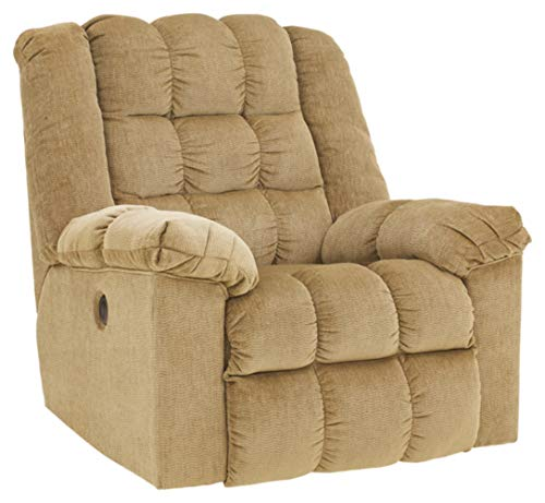 Signature Design by Ashley - Ludden Contemporary Power Rocker Recliner - Adjustable - Tan