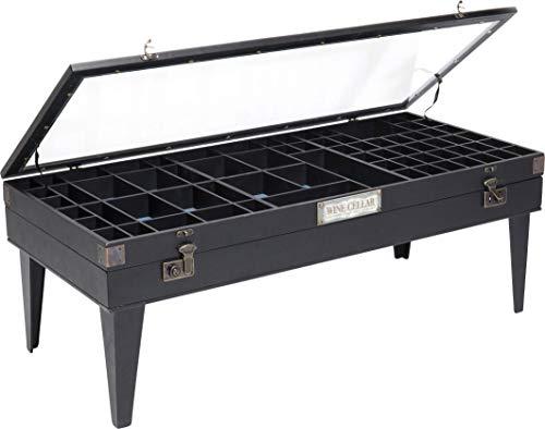 Kare Design Collector Tavolino da Caff, Nero, 122X55Cm