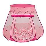 Selonis Tente 105X90cm/100 Balles Château Avec Les Balles Plastiques Piscine À...