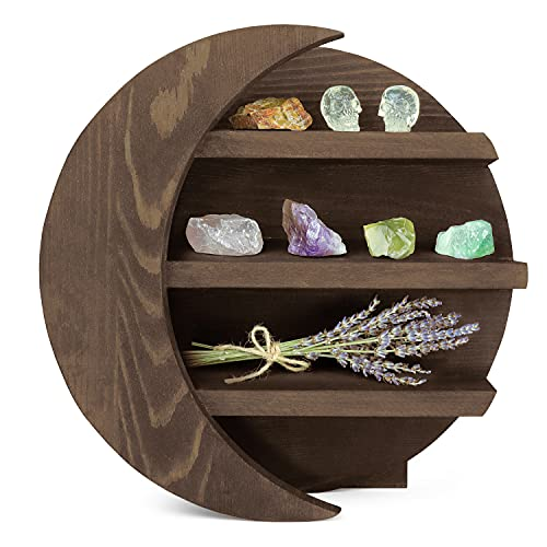 Moon Shelf for Crystals, Essential Oils, and Home Decor –...