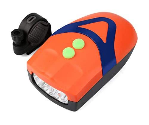FASTPED® 3 LED Light Orange Bicycle Bike Accessories Adjustable Safety Warning Loud Horn Orange