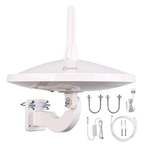 ANTOP 720° Dual-Omni Reception UFO Outdoor HDTV Antenna 65 Mile...