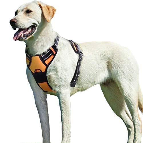 Eagloo hondenharnas voor grote honden | Anti-trek harnas | Medium harnas | Zacht gevoerd, ademend