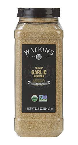 Watkins Gourmet Spice, Organic Garlic Powder, 22.0 oz. Bottle, 1 Count (21808)