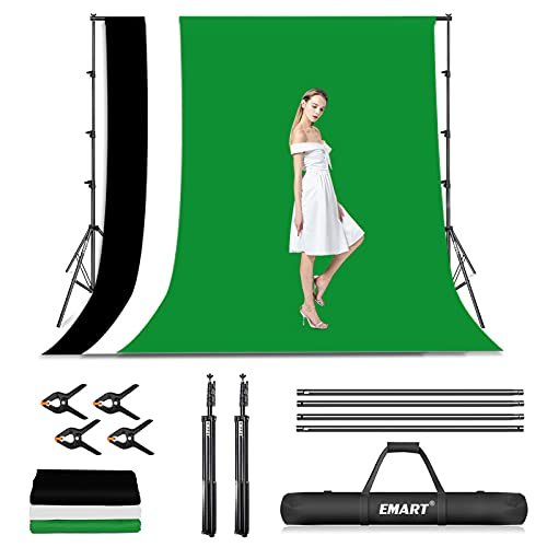 EMART Photo Video Studio Backdrop Stand Kit, 8.5x10ft Adjustable...