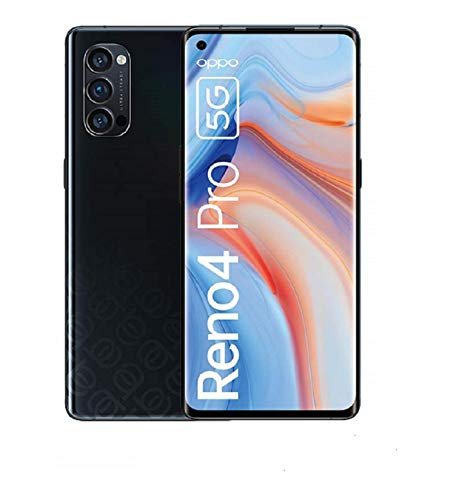 OPPO Reno4 Pro 5G, 6.5 Zoll 90 Hz AMOLED-Display, 48MP Triple-Kamera + 12MP Ultra Nacht Weitwinkel Videokamera, 32MP Frontkamera, [Exklusiv +5EUR Amazon Gutschein], Space Black – Deutsche Version