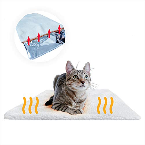 PiuPet Coperta autoriscaldante per gatti e cani, Dimensioni: 60x45 cm, Senza elettricit e batterie, Tappetino riscaldante innovativo ed ecologico (60x45cm, Per Gatti)
