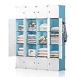 YOZO Portable Closet Armoire Wardrobe Pantry Cabinet Organizer Cube Storage Cubby Shelving Chest of...