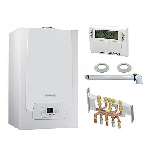 Chaudière Gaz Condensation MPX MI Slim De Dietrich 33 kW Complète (DOSSERET + DOUILLES + VENTOUSE) avec thermostat filaire