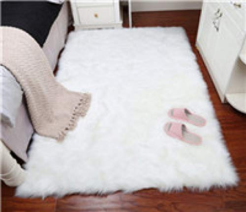 Cover Warm Hairy Carpet Seat Pad Long Skin Fur Plain Fluffy Area Rugs Washable Square