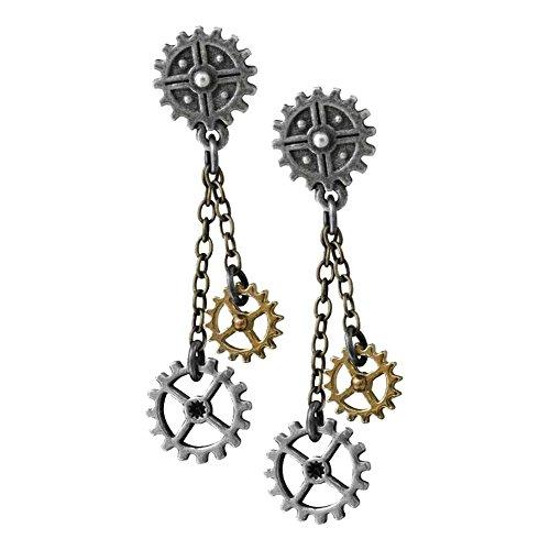 Alchemy Empire: Steampunk Machine Head Pair of Earrings (Jewellery)
