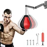 Boxing Speed Bag Punching Bag with Wall-Mounted, Boxing Equipment for Training, Home Workouts with Adjustable Height, Strong Durable with Stand for Men Women Kids