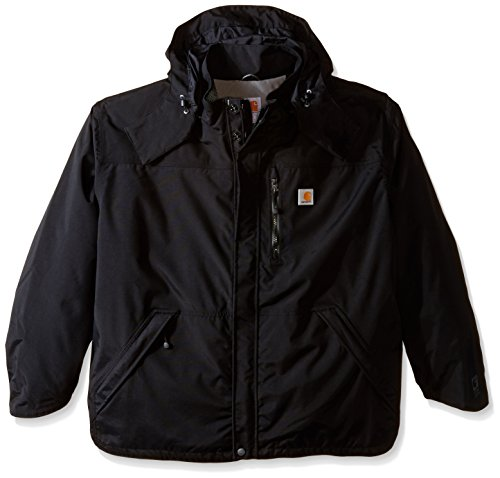 Carhartt Men's Big & Tall Shoreline Jacket Waterproof Breathable Nylon,Black,X-Large Tall