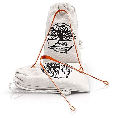 Limpiador de Lengua de cobre   Yoga & medicina Ayurveda   raspador de lengua   respaldados por la ciencia (2)