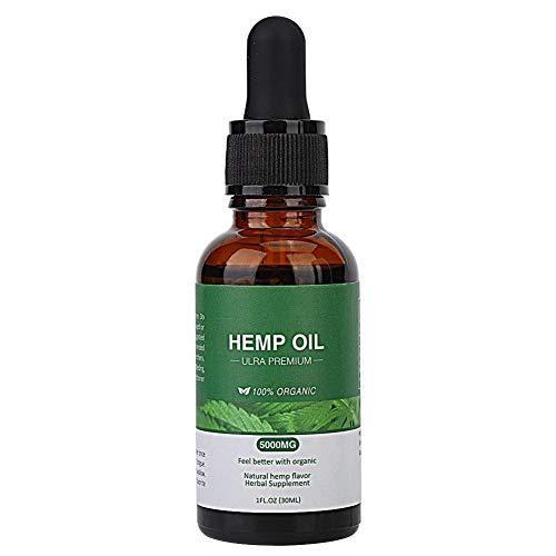 Cáñamo-semilla de aceite esencial - el cáñamo comestible de semilla de aceite esencial alivio del dolor de aceite mejora del sueño (tamaño : 30ml/5000mg)
