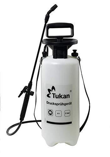 TUKAN - Nebulizzatore a pressione da 5 litri, per giardino, per la cura delle piante, con ugello regolabile