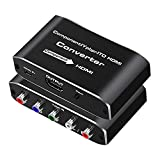 Component to HDMI, YPbPr to HDMI Converter, Koopman 5RCA RGB to HDMI Converter Adapter, Supports 1080P Video Audio Converter Adapter HDMI V1.4 for DVD PSP Xbox PS2 N64 to HDTV Monitor and Projector