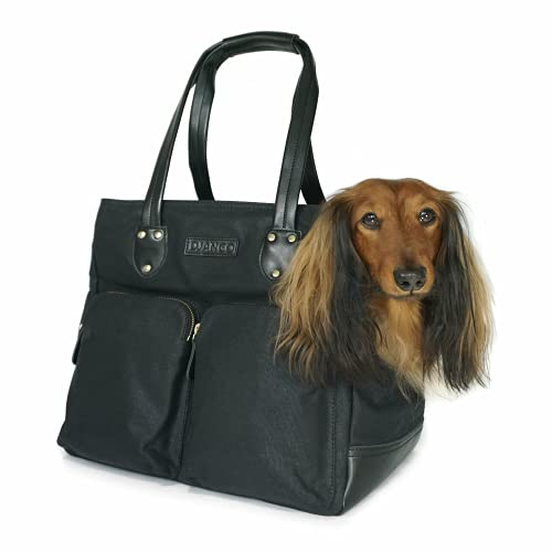 DJANGO Dog Carrier Bag - Waxed Canvas and Leather...