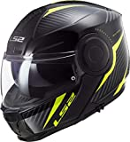LS2, Casque modulable moto Scope Skid Black H-V Yellow, Taille XXL