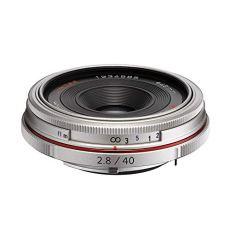 Pentax DA 40 mm F2.8 AL LTD HD - Objetivo para cámaras réflex Pentax Bayoneta K, Plateado