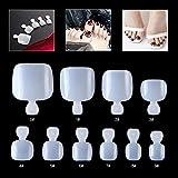 500 piezas de uñas postizas de gel UV acrílico de color marfil, uñas postizas MWOOT para ...