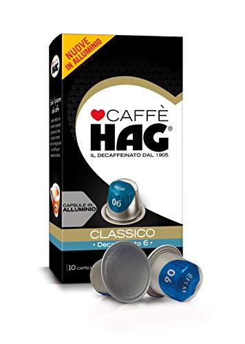 Hag - Capsule Caffè Decaffeinato Espresso Classico - Compatibili con Macchine Nespresso - 100 Capsule in Alluminio - Intensità 12