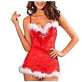 Lingerie Femme Sexy Ensemble Pas Cher Noël Lingerie Erothique Sexy,Costume Cosplay Lingerie Rouge De Noël,Pyjama De Combinaison De Noël pour Femmes,Lingerie...
