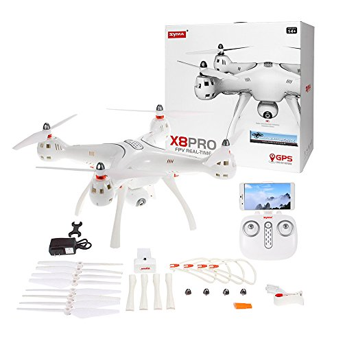 Syma X8 PRO GPS Quadricottero Bianco 2.4 GHz 720p Videocamera HD
