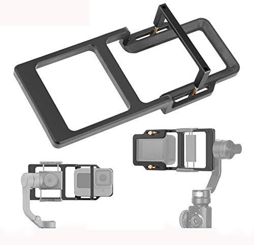 Linghuang - Adattatore piastra per fotocamera d'azione per GoPro Hero 9 Black per DJI Osmo Action Stabilizzatore Portatile Cardan Accessori per Zhiyun/Moza