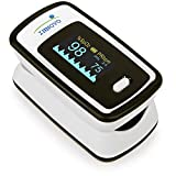 Innovo Deluxe iP900AP Fingertip Pulse Oximeter with Plethysmograph and Perfusion Index (Off-White with Black)