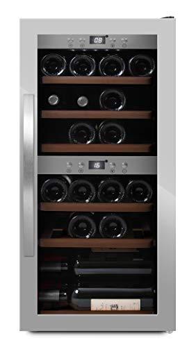 mQuvee Cantinetta vino a libera installazione WineExpert 24 Inox, capacit 24 bottiglie, 2 zone di...