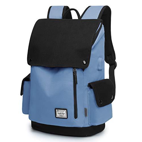 WindTook Zaino Porta PC 15.6 Pollici Zaino da Donna e Uomo Casual Backpack Laptop Zaino Unisex Adulto per Universitá Travel Leisure Lavoro Blu e Nero
