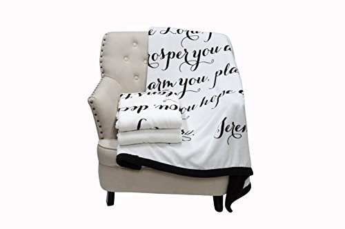 Luxuriously Soft Scripture Throw Blanket | Jeremiah 29:11 | 50x60 inches (Brown)