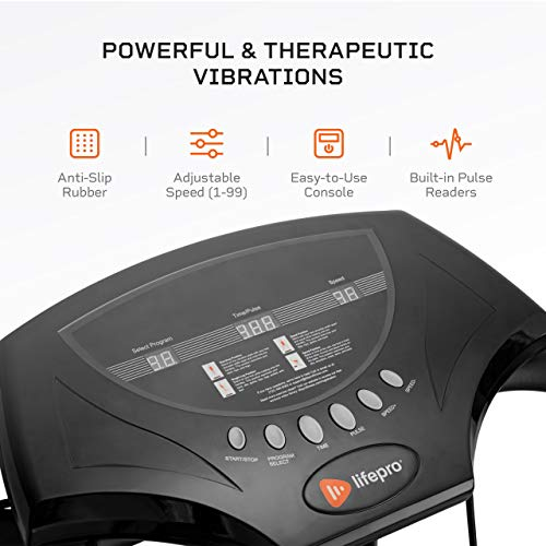 LifePro Rhythm Viberation Plate Machine - Professional Whole Body Vibration Platform for Home Fitness - Viberation Excersize Machine for Awesome Cardio Workout & Weight Loss 3