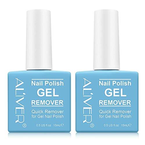 Magic Nail Polish Remover, Professional Fast Removes Soak-Off Gel Nail Polish within 3-5 Minutes, Protect Your Nails,15Ml(2PCS)