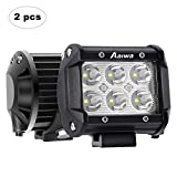 AAIWA Phare de Travail à LED, 4'' 18W Phare LED Voiture 2 Pièces 12V 24V...