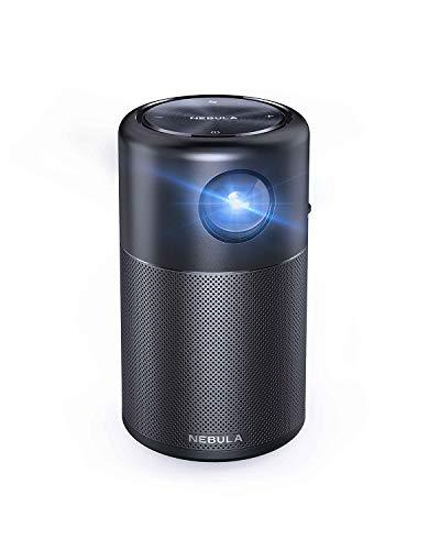 NEBULA Capsule par Anker, Le Pico Projecteur Wi-FI Intelligent - Cinéma Portable 100 ANSI lumens, DLP, Enceinte 360°, Projecteur 100'', Android 7.1, 4 Heures d'autonomie Vidéo, avec Application