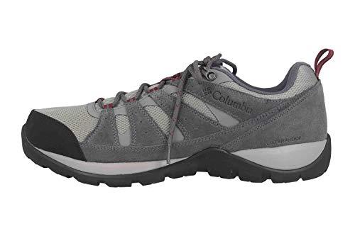Columbia Redmond V2, Zapatos de Senderismo Impermeables Hombre, Gris, Rojo (Monument, Red Jasper), 43 EU