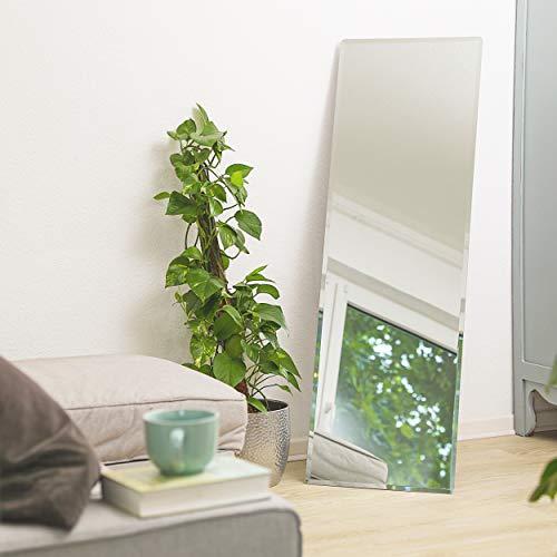 1000 MIRROWS Standspiegel und Wandspiegel mit Facette | 140 x 45 cm | Ganzkörperspiegel Groß & Modern