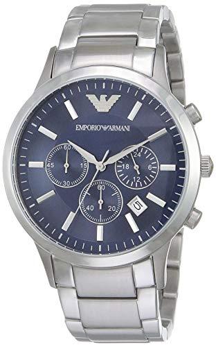 Emporio Armani Herren Chronograph Quarz Uhr mit Edelstahl Armband AR2448