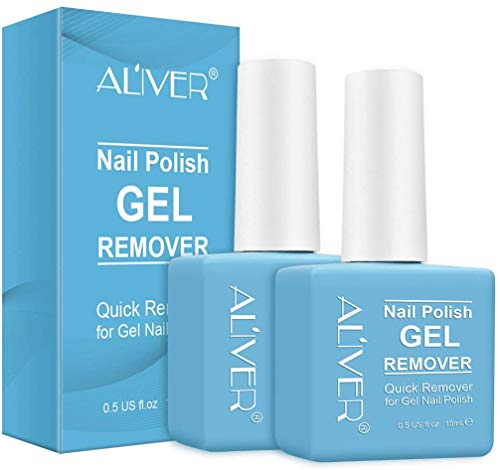 Magic Nail Polish Remover 2Pack, Easy Quickly Soak Off Gel Polish in 3-5 Minutes,For Natural,Gel,Acrylic,Sculptured Nails,Shellac Nails and Dark Colored Paints